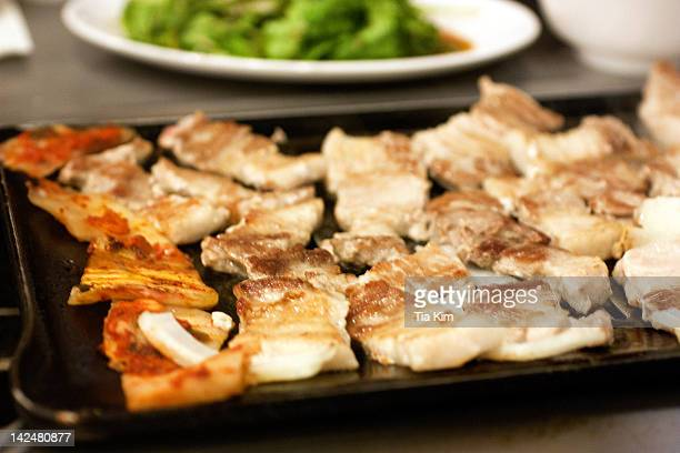 pork belly and kimchi - palisades amusement park stock pictures, royalty-free photos & images