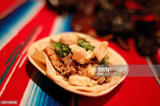 Pork belly carnitas tacos from Bodega Negra at Dream Downtown on display at the 2016 New York Taste presented by Citi hosted by New York Magazine on...