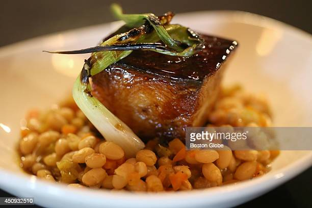 Pork Belly with white beans at Port Bistro in Kingston