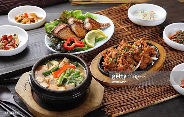 Schweinefleisch Feuerfleisch & Bean Paste Suppe