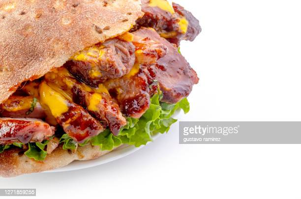pork burger and chicken burger - turkey burger stock pictures, royalty-free photos & images