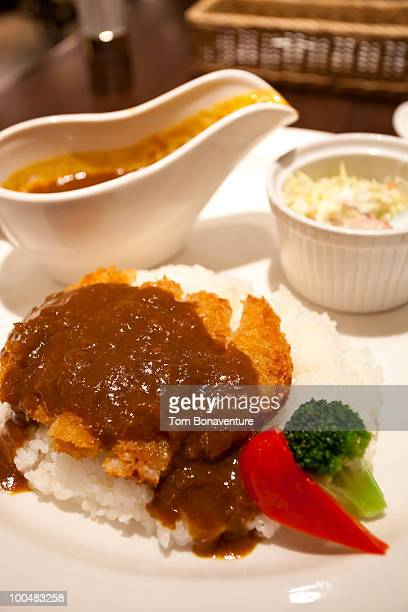 Pork cutlet and curry sauce