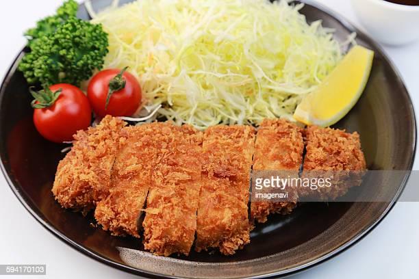 pork cutlet - tonkatsu imagens e fotografias de stock