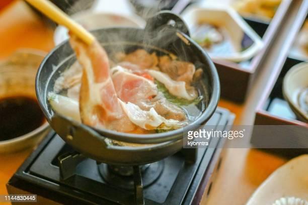 pork hotpot - tonkatsu imagens e fotografias de stock
