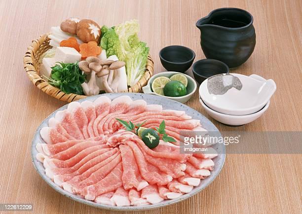 pork - shimeji mushroom stock pictures, royalty-free photos & images