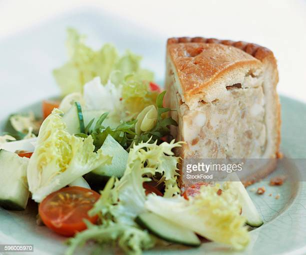 Pork pie with salad (UK)