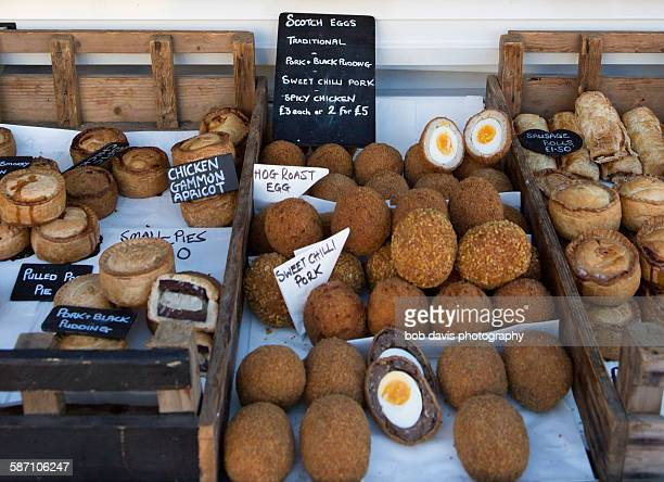 Pork pies and scotch eggs