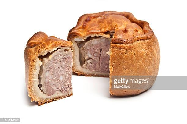 Pork pies with baked crispy crusts