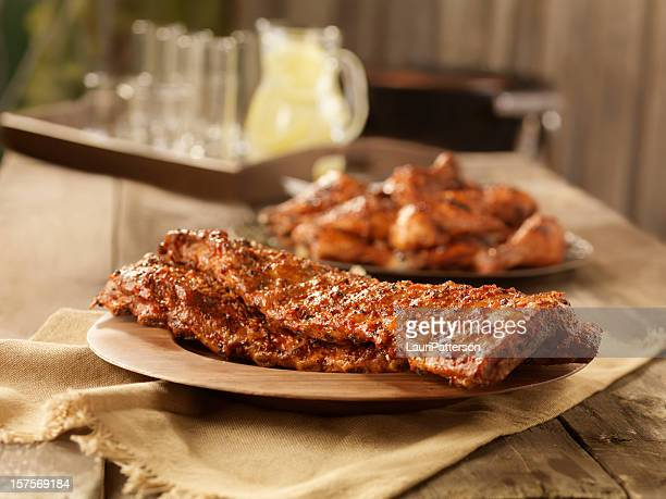BBQ Pork Ribs and Chicken