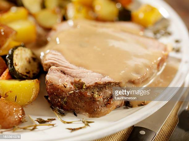 Pork Roast Dinner with Gravy