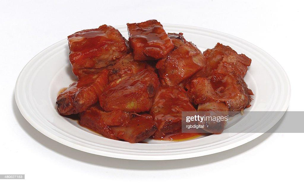 Pork spare ribs : Stockfoto