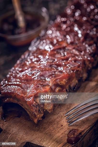 churrasco de porco entrecosto - sparerib - fotografias e filmes do acervo