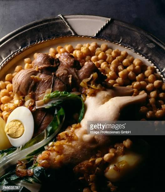 Pork stew with chickpeas