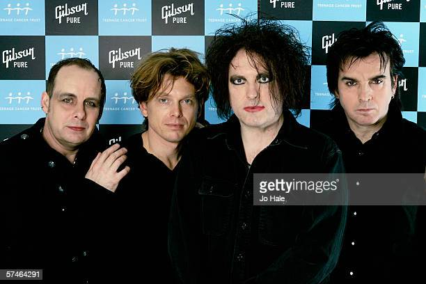 Porl Thompson Jason Cooper Robert Smith and Simon Gallup of The Cure poses backstage on the sixth and final night of a series of concerts and events...