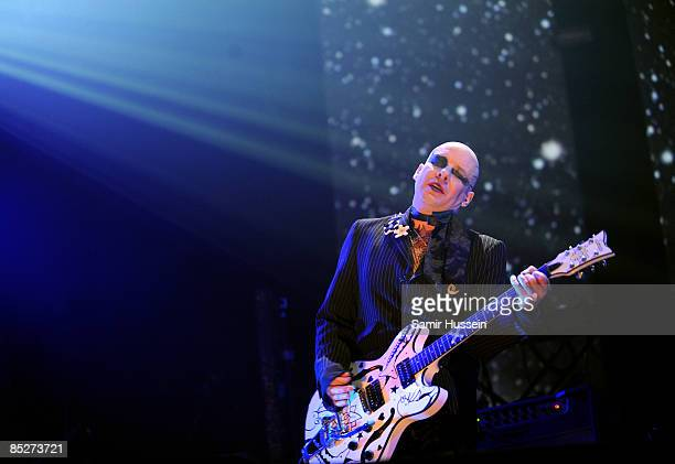 Porl Thompson of The Cure performs at the 02 Arena as part of NME's Big Gig on February 26 2009 in London England
