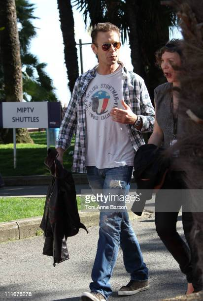 Porn actor Rocco Siffredi Sighting in Cannes on April 5 2011 in Cannes France
