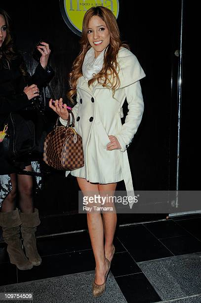 Porn actress Melanie Rios sighting at Moda Restaurant on March 3 2011 in New York City