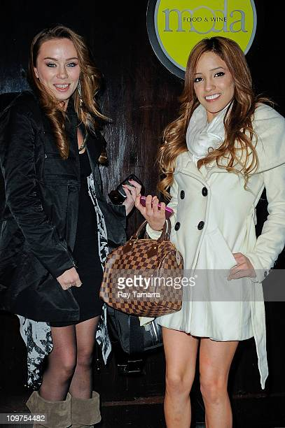 Porn actresses Capri Anderson and Melanie Rios leave Moda Restaurant on March 3 2011 in New York City