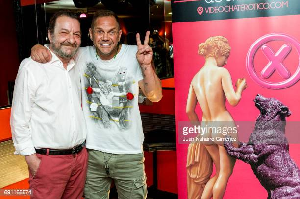 Porn director Jose Maria Ponce and porn actor Nacho Vidal attend Madrid Erotic Fair presentation at Club Swinger Trivial on June 1 2017 in Madrid...