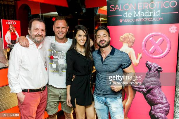 Porn director Jose Maria Ponce porn actor Nacho Vidal porn actress Carolina Abril and gay pornagraphic actor Martin Mazza attend Madrid Erotic Fair...