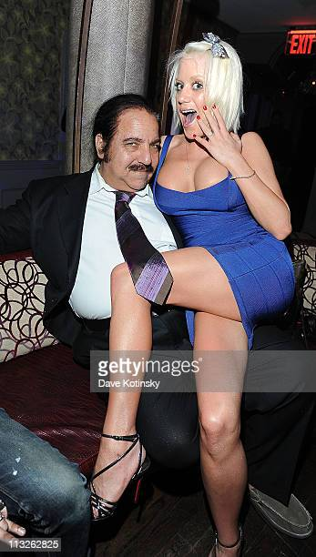 Porn Legend Ron Jeremy and Cami Parker attend the book launch party for The Gods of Greenwich at Kiss and Fly on April 28 2011 in New York City