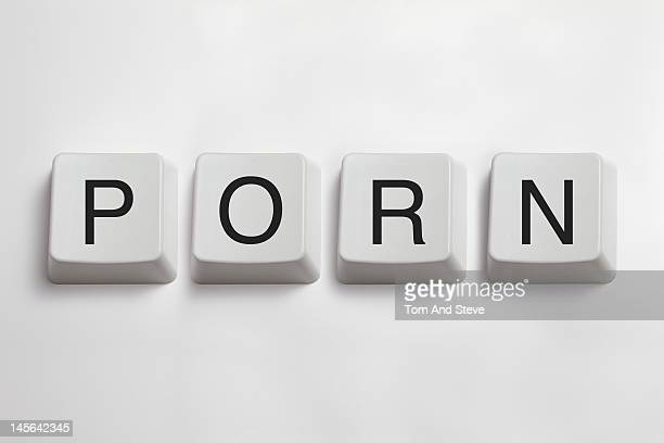'Porn' spelled from computer keyboard keys