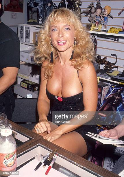 Porn star Nina Hartley attends Lenny Bruce's Posthumous 68th Birthday Benefit for the Comic Book Legal Defense Fund on October 22 1993 at Golden...