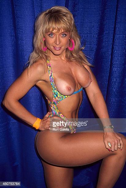 Porn star Nina Hartley attends the 10th Annual Video Software Dealers Association Convention and Expo on July 15 1991 at the Las Vegas Hilton...