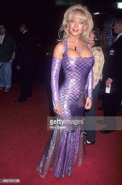 Porn star Nina Hartley attends the Boogie Nights Hollywood Premiere on October 15 1997 at the Mann's Chinese Theatre in Hollywood California