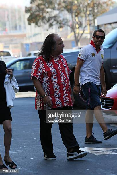 Porn Star Ron Jeremy is seen on August 31 2016 arriving at Jimmy Kimmel Live in Los Angeles CA