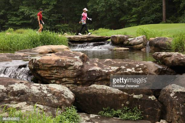 Pornanong Phatlum of Thailand walks to the 17th green during the first round of the 2018 US Women's Open at Shoal Creek on May 31 2018 in Shoal Creek...