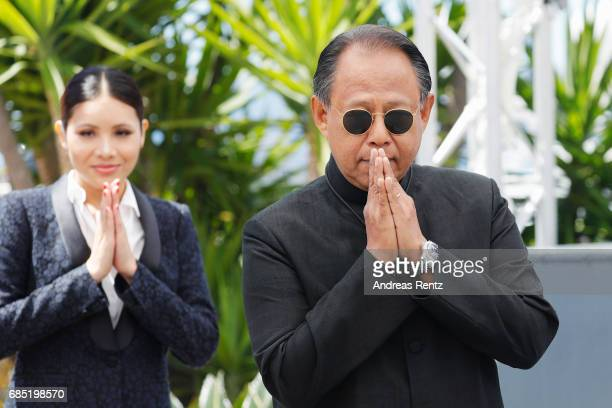 Pornchanok Mabklang and Vithaya Pansringarm attend the A Prayer Before Dawn photocall during the 70th annual Cannes Film Festival at Palais des...