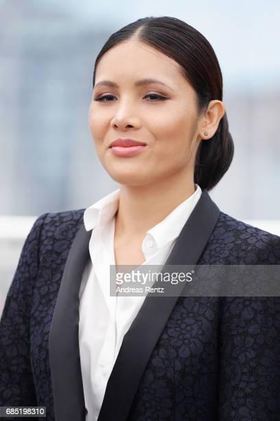 Pornchanok Mabklang attends the A Prayer Before Dawn photocall during the 70th annual Cannes Film Festival at Palais des Festivals on May 19 2017 in...