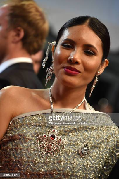 Pornchanok Mabklang attends the A Prayer Before Dawn premiere during the 70th annual Cannes Film Festival at Palais des Festivals on May 19 2017 in...