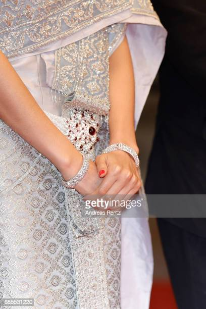 Pornchanok Mabklang fashion detail attends the A Prayer Before Dawn premiere during the 70th annual Cannes Film Festival at Palais des Festivals on...