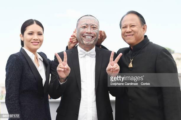 Pornchanok Mabklang Panya Yimumphai and Vithaya Pansringarm attend the A Prayer Before Dawn photocall during the 70th annual Cannes Film Festival at...