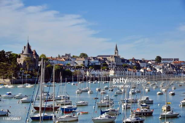 pornic loire atlantique france - loire atlantique stock pictures, royalty-free photos & images