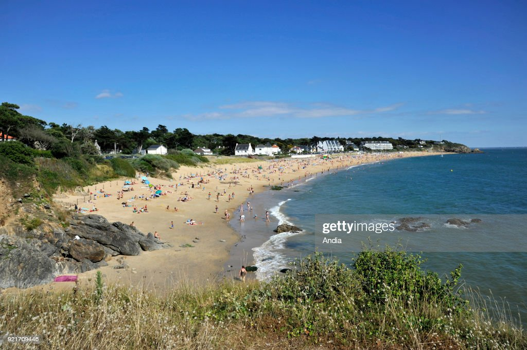 Pornichet, 'plage de Bonne Source' beach. : News Photo