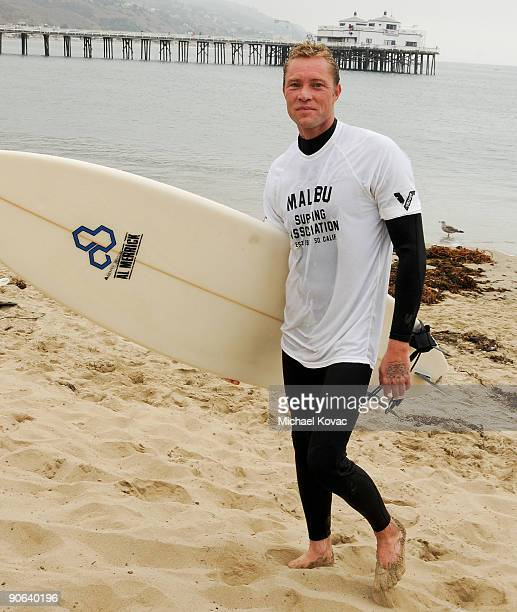 Porno for Pyros bassist Martyn LeNoble attends the 4th Annual Surfrider Foundation Celebrity Expression Session at First Point Surfrider Beach on...