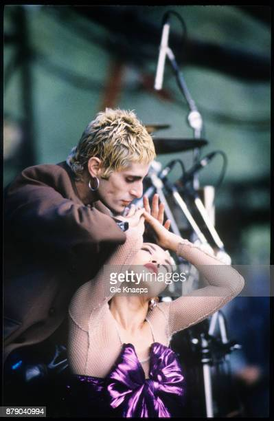 Porno For Pyros Perry Farrell performing on stage Pukkelpop Festival Hasselt Belgium 28th August 1993