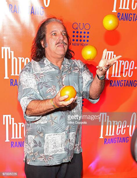 Pornographic actor Ron Jeremy attends ThreeO Vodka's Rangtang launch party at Quo Nightclub on February 23 2010 in New York City