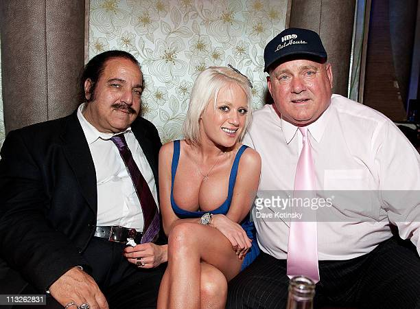 Pornographic actor Ron Jeremy Bunny Ranch's Cami Parker and Dennis Hof attend the book launch party for The Gods of Greenwich at Kiss and Fly on...