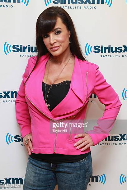Pornographic actress Lisa Ann visits the SiriusXM Studios on April 2 2013 in New York City