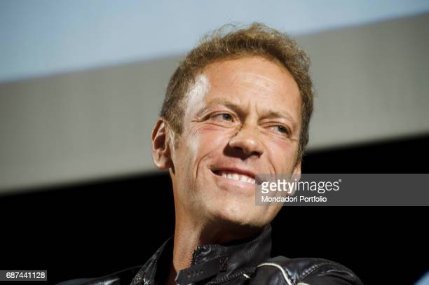 Pornostar Rocco Siffredi being interviewed by Alfonso Signorini director of Chi and by Giorgio MulŠ director of Panorama during the event Panorama...