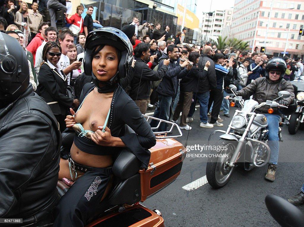Auckland bike boob parade photo