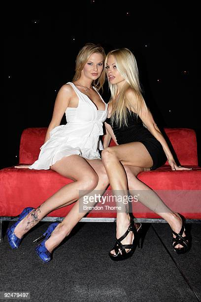 Pornstars Tarra White and Jesse Jane pose during Sexpo 2009 at the Hordern Pavilion on October 29 2009 in Sydney Australia Sexpo is the world's...