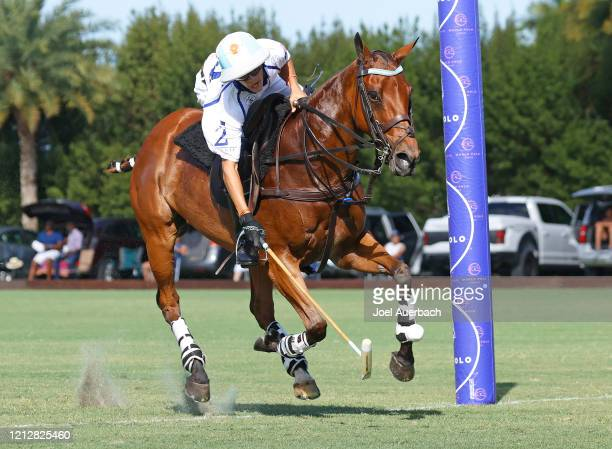 Poroto Cambiaso of Valiente scores against Richard Mille during The Palm Beach Open on March 15 2020 at the Grand Champions Polo Club in West Palm...