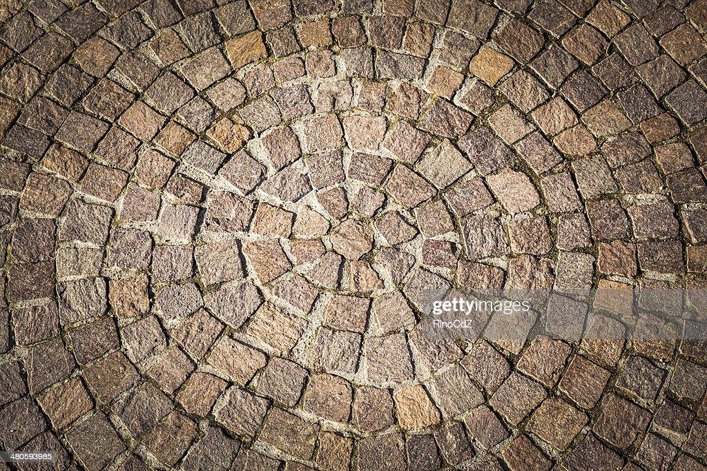 Porphyry Road Circular Texture : Stock Photo