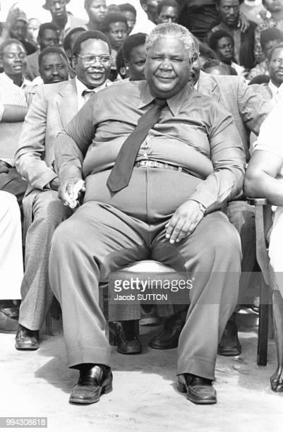 Porrtrait de Joshua Nkomo le 8 février 1980 à Salisbury Rhodésie