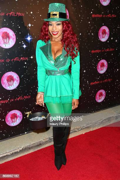 """Porscha Coleman arrives at Chris Brown album release Pop up for """"Heartbreak On A Full Moon"""" at Universal Studios Hollywood on October 31, 2017 in..."""
